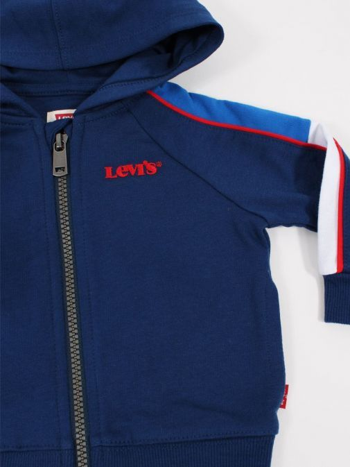 close up shot of Levis Baby Colour-Blocked Hoodie in Estate Blue