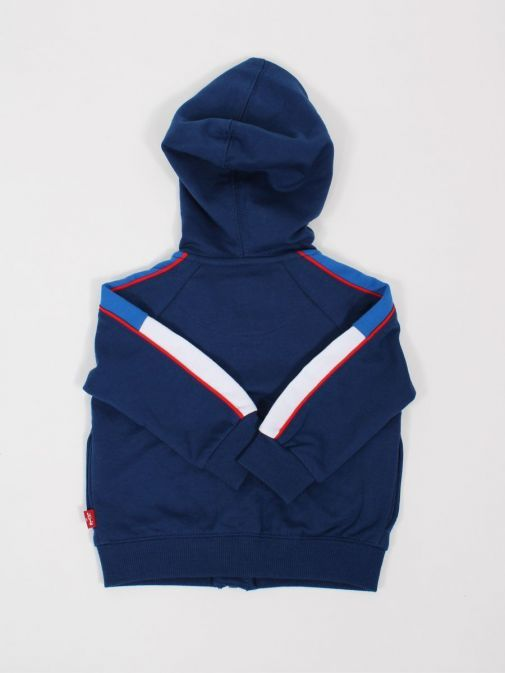 Back shot of Levis Baby Colour-Blocked Hoodie in Estate Blue