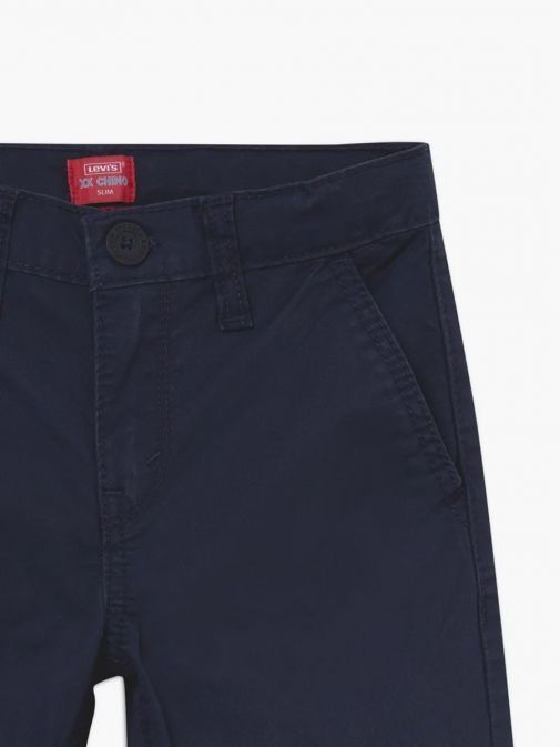 Close up shot of Levis Kids 511 Slim Fit Chinos in Navy