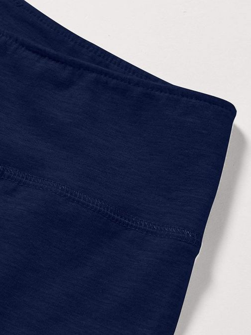 Close up of waistband of Levis Teenager High Rise Leggings in Medieval Blue