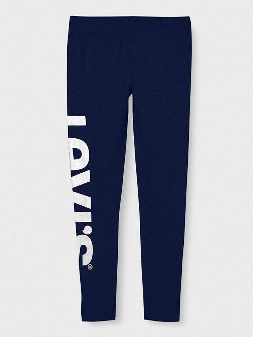 Back shot of Levis Teenager High Rise Leggings in Medieval Blue