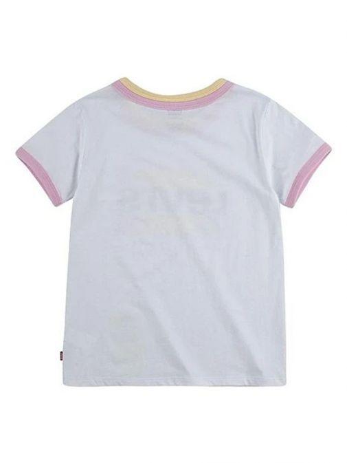Levis Teenager Rainbow Ringer T-Shirt White