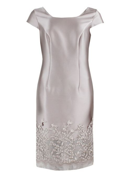 Dress only shot of Lexus Embroidered Detail Dress and Jacket Set in Blush, Style 12353