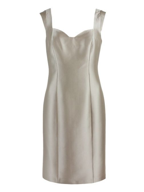 Dress only shot of Lexus Dress and Feather Detail Jacket in Beige, Style 1249