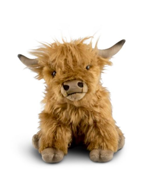 Front shot of the Living Nature Medium Highland Cow with Sound