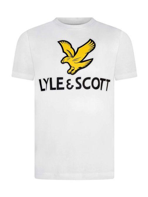 Image of Lyle & Scott Eagle Logo T-Shirt in Bright White