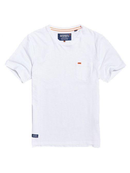 Superdry Optic White Originals Pocket T-shirt M10101MT 01C