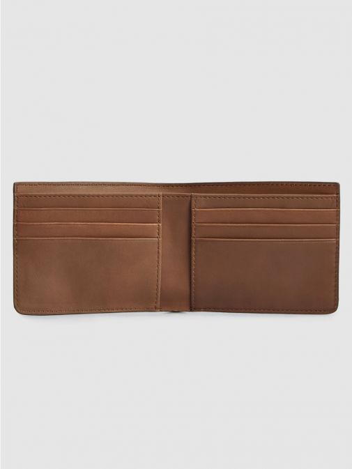 Superdry Tan Leather NYC Bifold Wallet M9810144a/20O-Tan