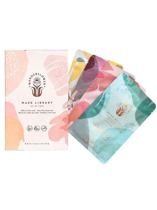front shot of the Mask Library Sheet Masks Set with the box