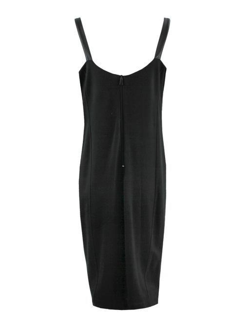 Mat Black Sleeveless Bodycon Dress