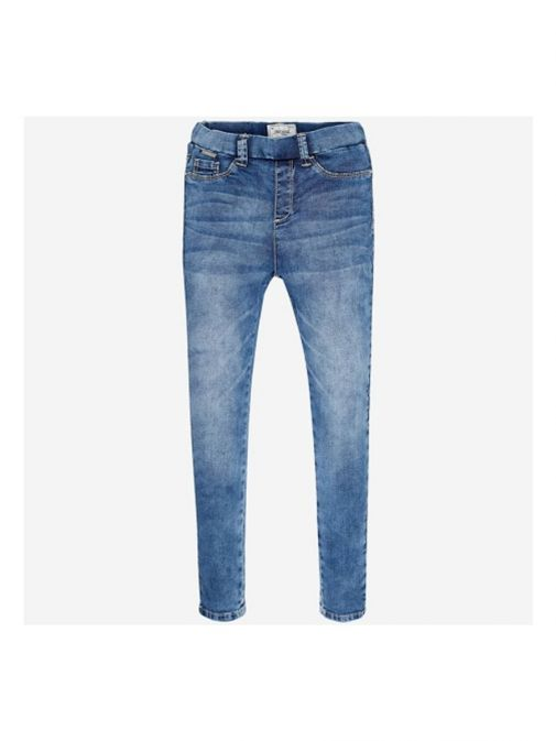 Front shot of the Mayoral Skinny Jeggings in the Blue colour