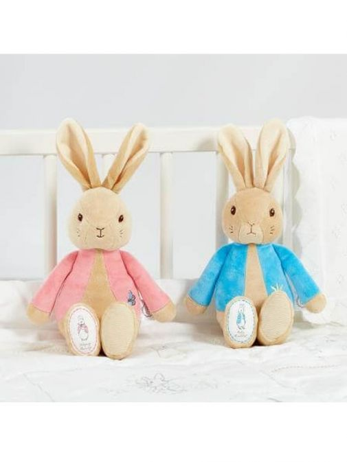 Picture of My First Flopsy Bunny Soft Toy beside My First Peter Rabbit soft toy