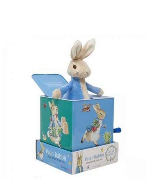 alternative side shot of Peter Rabbit Musical Jack in the Box
