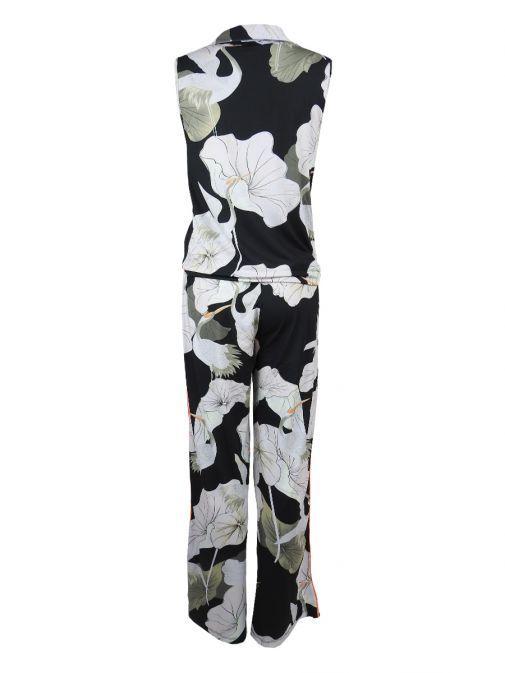 K Design Multi Printed Sleeveless Jumpsuit