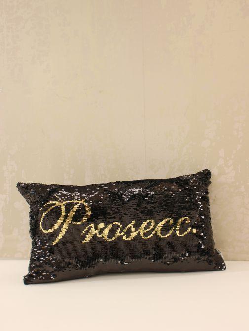 Black Gin/Prosecco Double Sequin Cushion