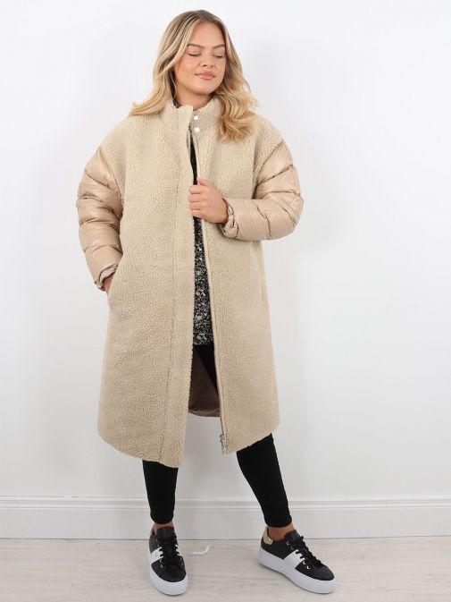Front image of Rino & Pelle Alec Long Coat in Brown