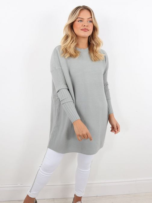 Front image of Rino & Pelle Knitted Sweater in Green