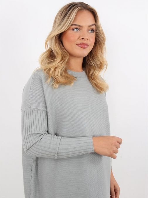 Side image of Rino & Pelle Knitted Sweater in Green