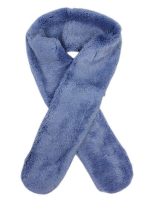 Rino & Pelle Blue Faux Fur Scarf SAAKJE.700W19 0728