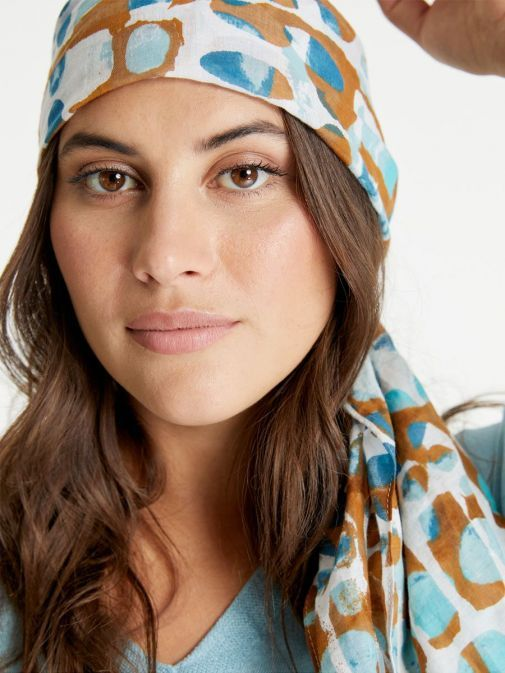 second way to wear the Samoon Voile Scarf Multi-Coloured