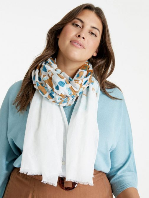 Frist way to wear the Samoon Voile Scarf Multi-Coloured