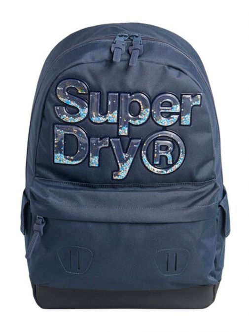 front shot of the Superdry Aqua Star Montana Backpack Navy