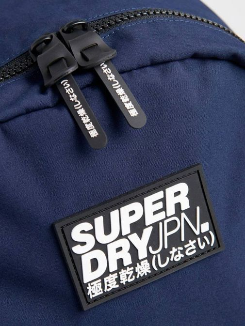 closeup shot of the Superdry Classic Montana Backpack Navy