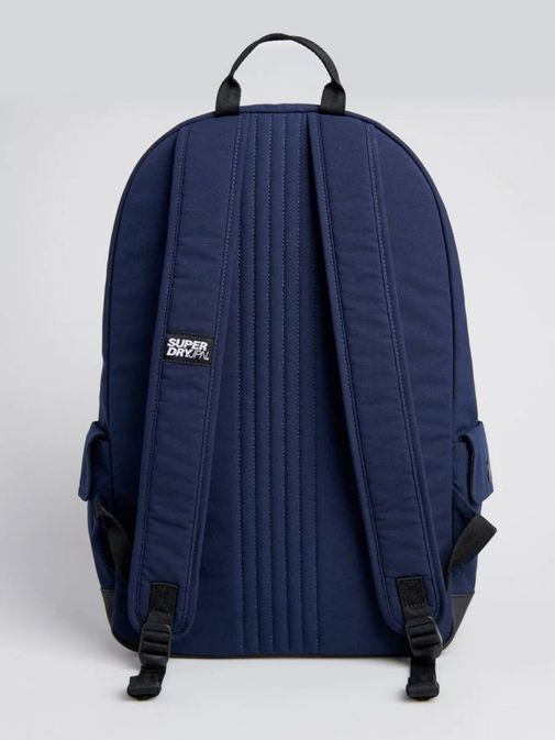 back shot of the Superdry Classic Montana Backpack Navy