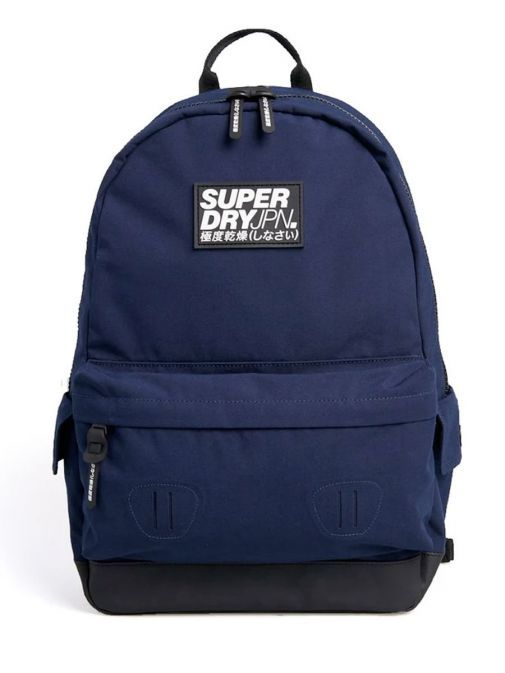 front shot of the Superdry Classic Montana Backpack Navy