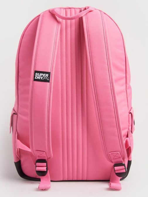 Back image of Superdry Rainbow Infill Montana Backpack in Pink