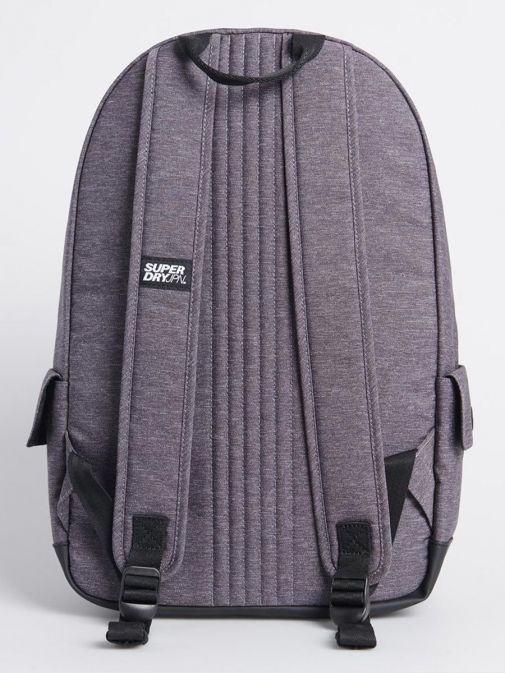 Back image of Superdry Rainbow Infill Montana Backpack in Grey Marl