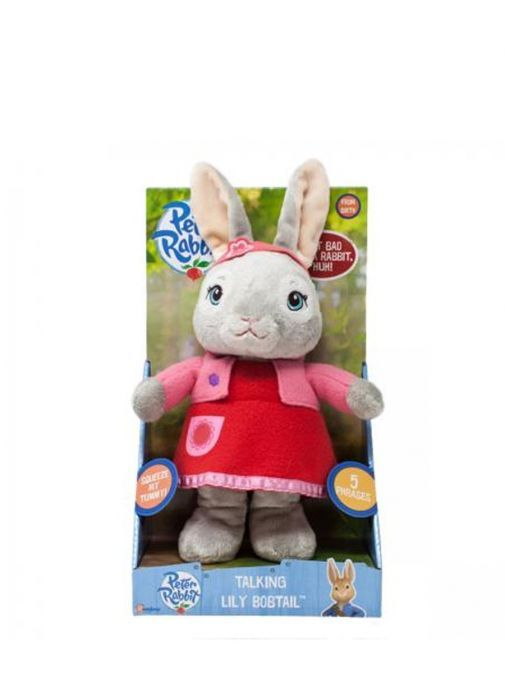 Picture of Talking Lily Bobtail Soft Toy from Peter Rabbit in Display Box