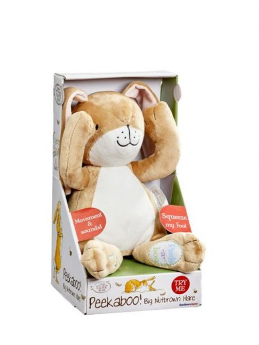Talking Peekaboo Big Nutbrown Hare in box