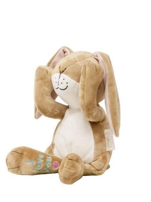 side shot ofTalking Peekaboo Big Nutbrown Hare