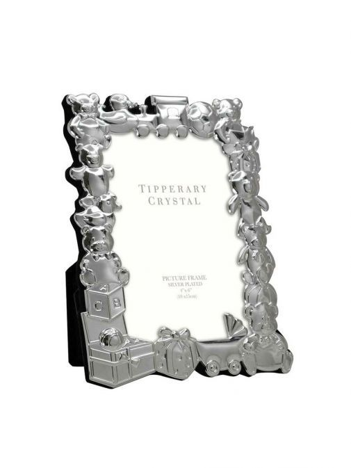 Front shot of the Tipperary Crystal Baby Frame with Toy Parade