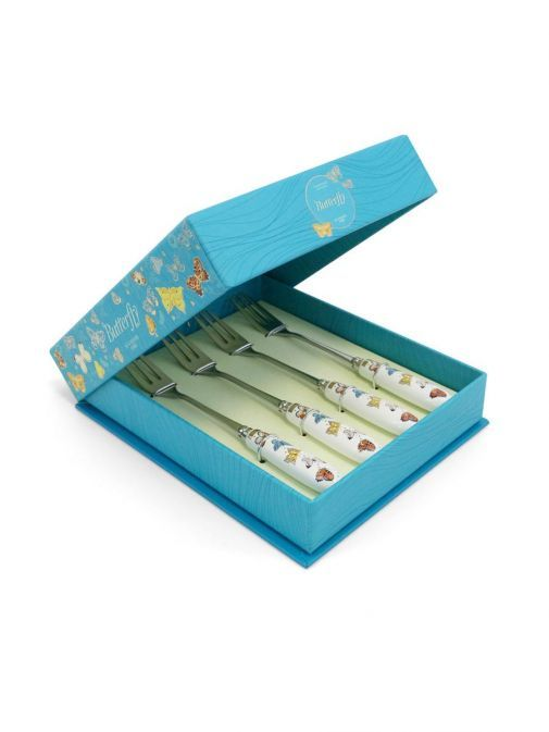 box shot of the Tipperary Crystal Butterfly Pastry Forks Set of 4