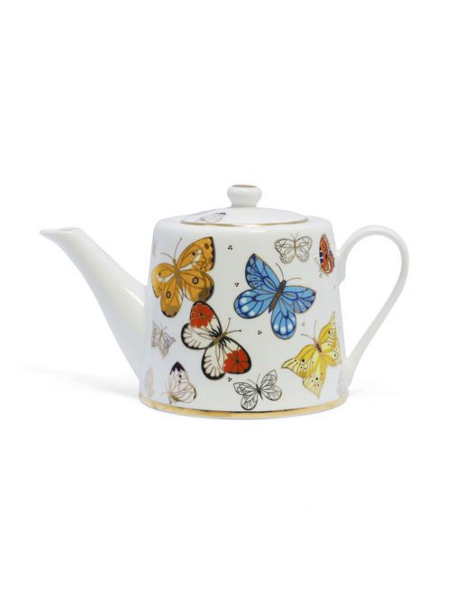 Front shot of the Tipperary Crystal Butterfly Tea Pot