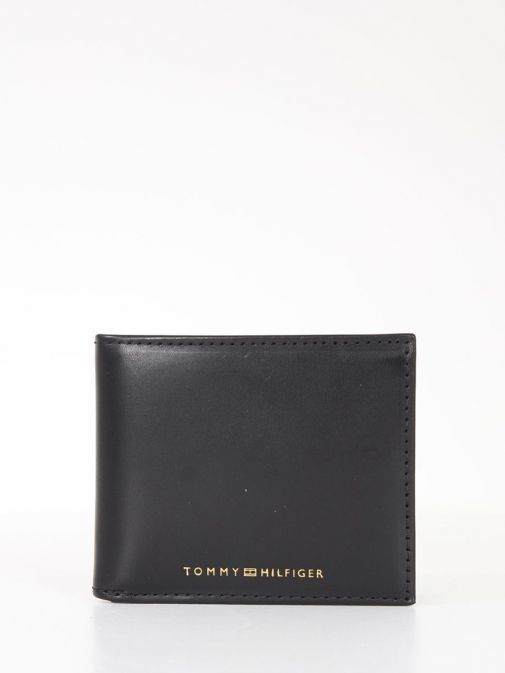 Front Product Image of Tommy Hilfiger Casual Leather Small Card Wallet Black