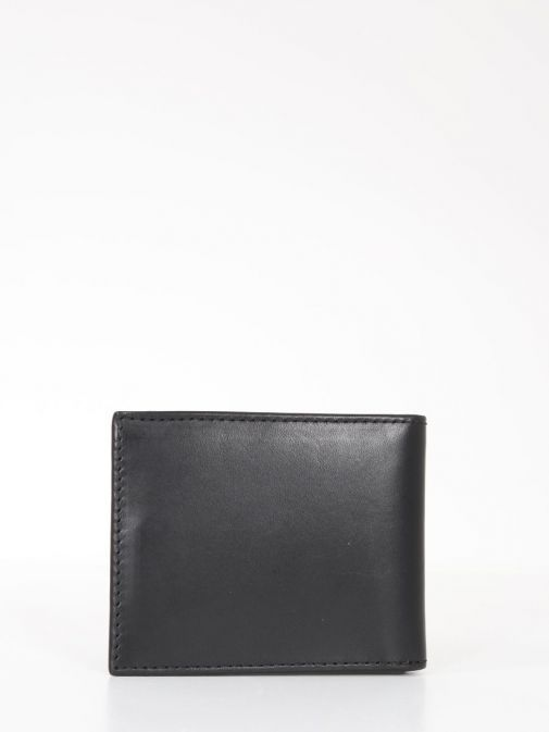 Back Image of Tommy Hilfiger Casual Leather Small Card Wallet Black