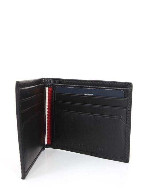 Inside Image of Tommy Hilfiger Casual Leather Small Card Wallet Black