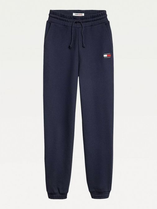 Front image of Tommy Jeans Badge Relaxed Joggers in Navy