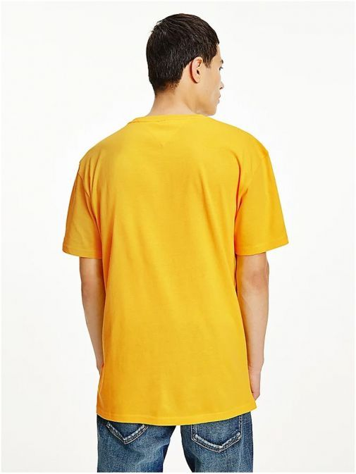 Back shot of Tommy Jeans Men Organic Cotton T-Shirt Yellow