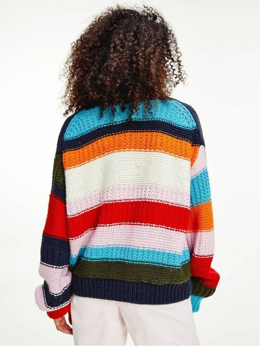 Back image of Tommy Jeans Multicolour Mixed Knit Jumper