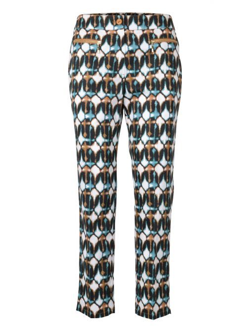 Marie Mero Multicolour Printed Slim Fit Trousers TR18/728
