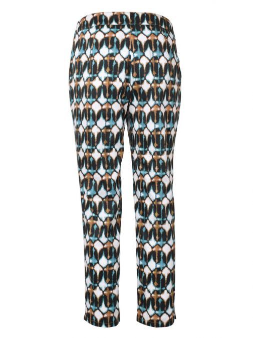 Marie Mero Multicolour Printed Slim Fit Trousers