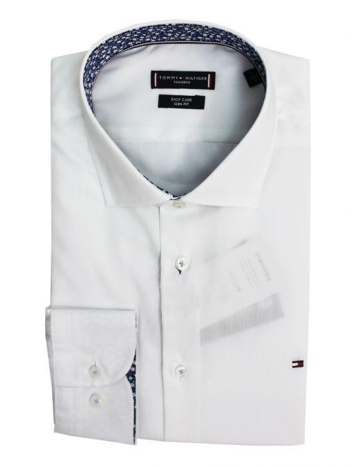 Tommy Hilfiger White Poplin Classic Slim Fit Shirt TT0TT06458 YBS