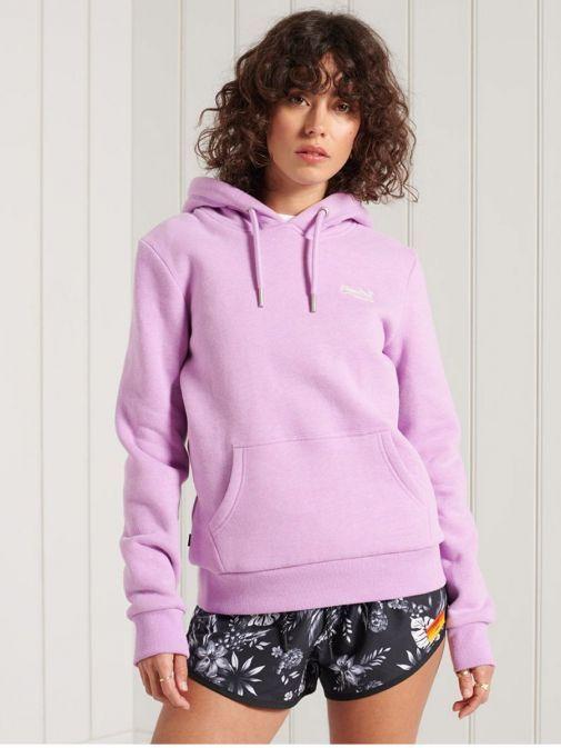 Superdry Lavender Marl Orange Label Classic Hoodie w2010748a-nfh-purple