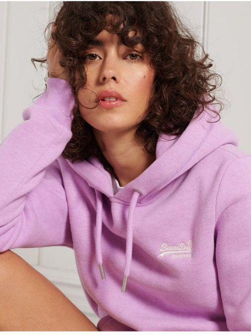 Superdry Lavender Marl Orange Label Classic Hoodie