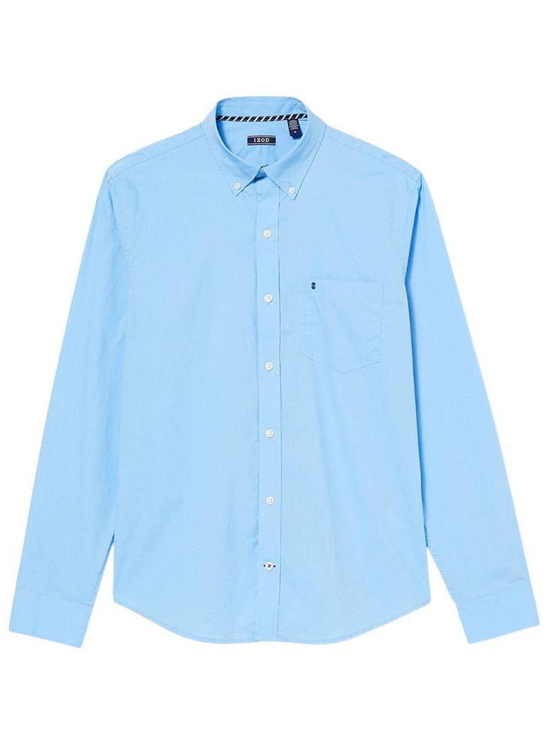 IZOD Baby Boy Blue Long Sleeve Shirt