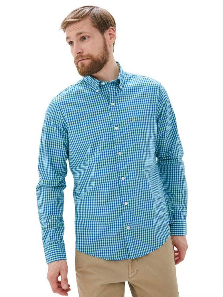 IZOD Green Ash Poplin Gingham Shirt
